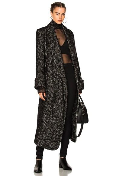 Belted Tweed Coat