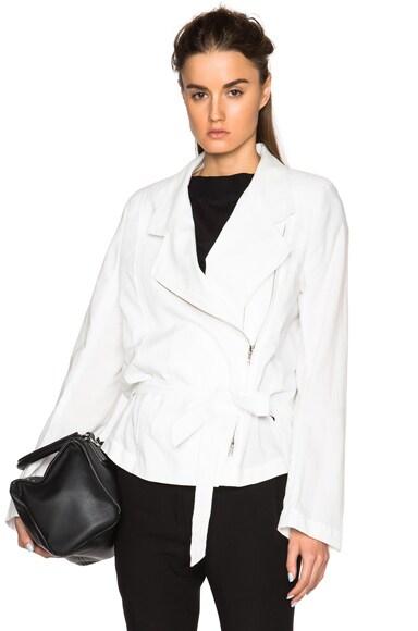 Ann Demeulemeester Oversized Blazer in Off White