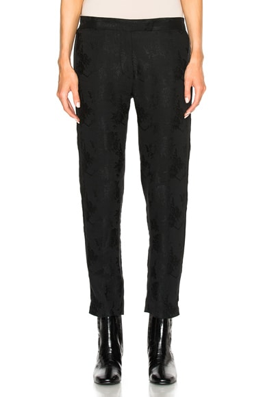 Ann Demeulemeester Trousers in Black & Black