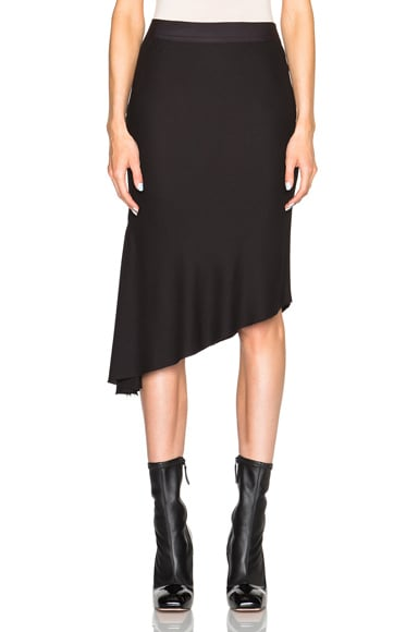 Ann Demeulemeester Asymmetric Skirt in Black