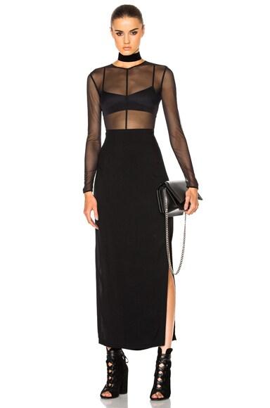 Belted Column Skirt