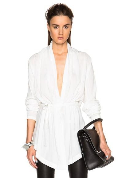 Ann Demeulemeester Drape Tunic in Off White