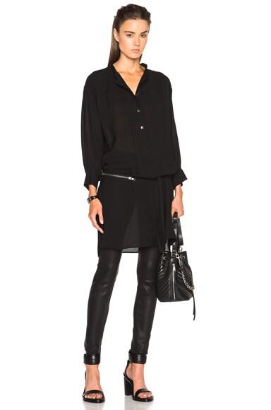 Ann Demeulemeester Tie Waist Blouse in Black