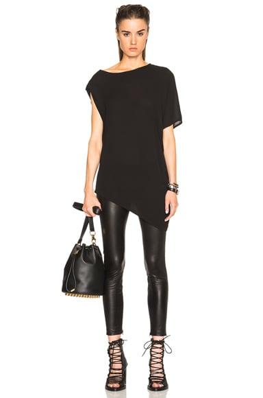 Ann Demeulemeester Soft Asymmetrical Drape Tee in Black