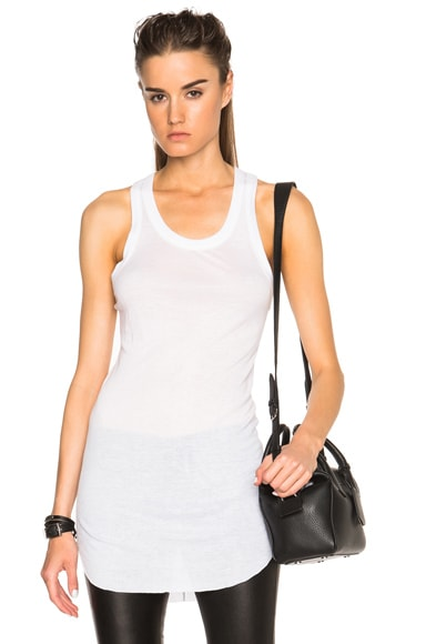 Ann Demeulemeester Ribbed Tank Top in White