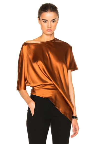 Ann Demeulemeester Short Sleeve Baggy Top in Rusty