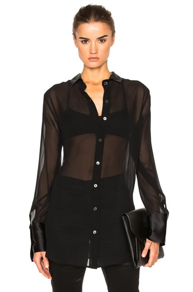 Ann Demeulemeester Reverse Button Blouse in Black
