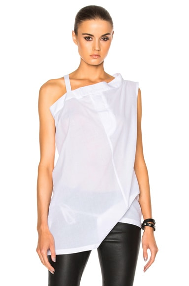 Ann Demeulemeester Cotone Top in White