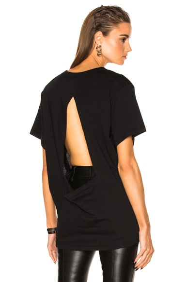 Sheer Open Back Tee