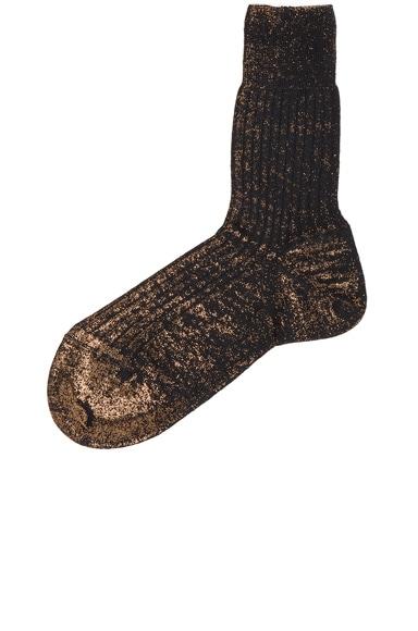 Ann Demeulemeester Socks in Black & Lamina