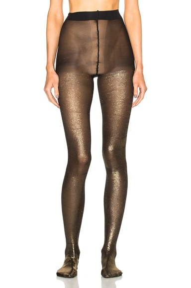 Ann Demeulemeester Tights in Black & Lamina Gold