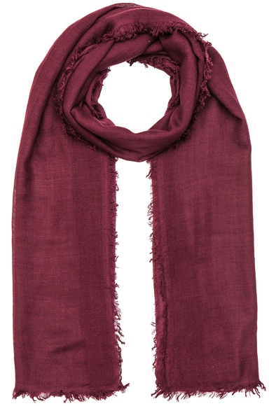 Ann Demeulemeester Cashmere Scarf in Prune