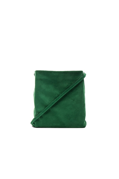 Ann Demeulemeester Suede Satchel in Emerald