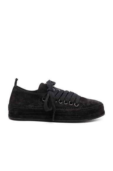 Ann Demeulemeester Suede Sneakers in Black