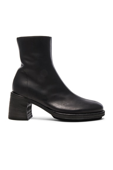 Ann Demeulemeester Leather Boots in Black