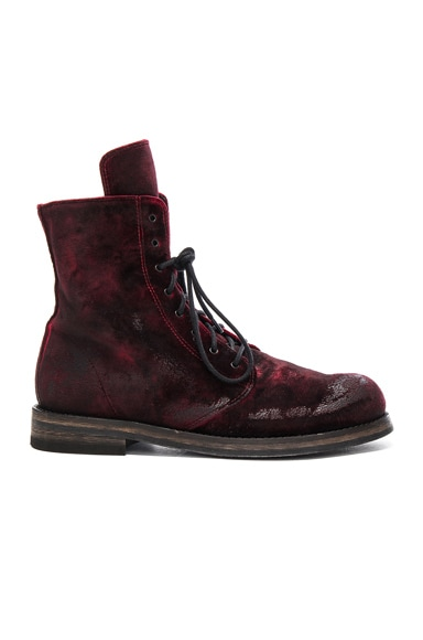 Ann Demeulemeester Boot in Ruby