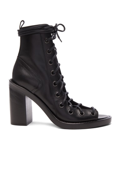 Ann Demeulemeester Lace Up Heels in Black