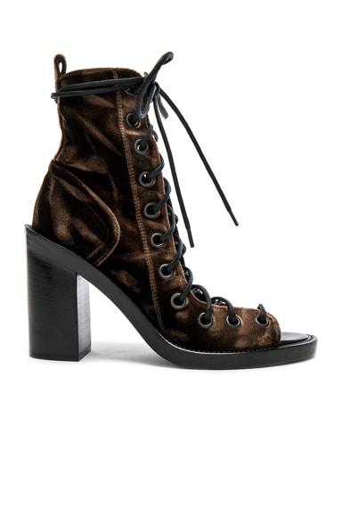 Velvet Lace Up Heels