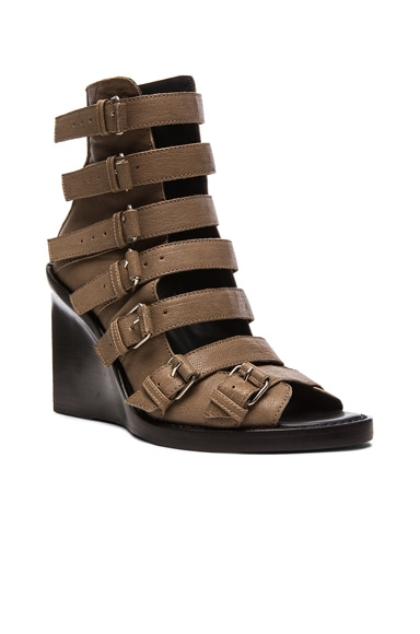 Buckle Wedge Heels