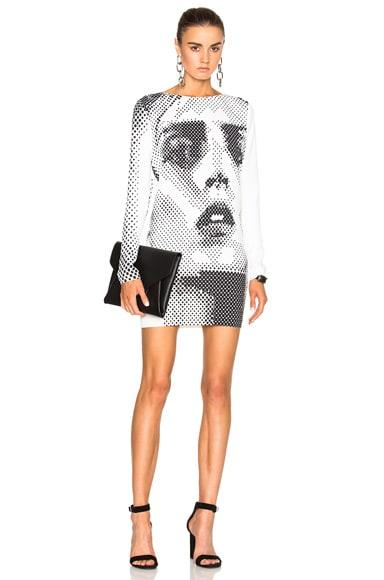 Anja Print Sweatshirt Dress