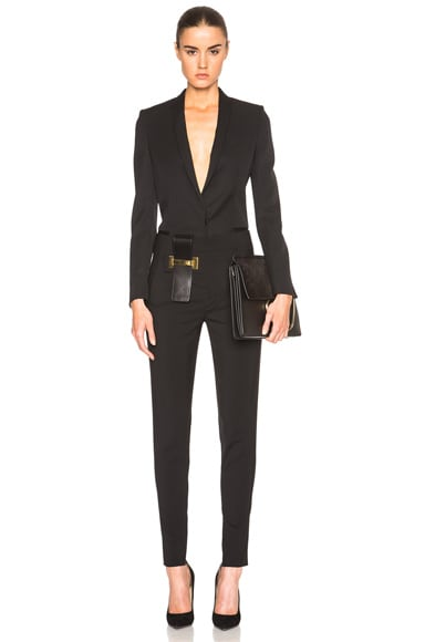 Classic Pants with Vertical Belt