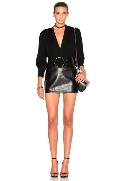 Central Piercing Mini Skirt