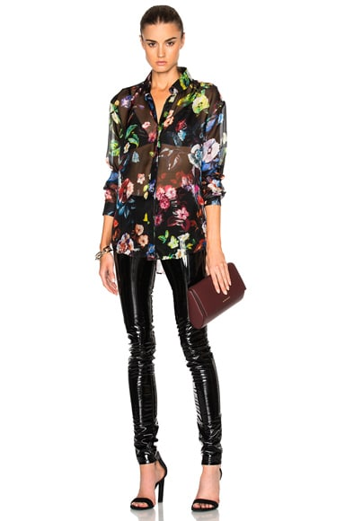 Multi Flower Print Classic Shirt