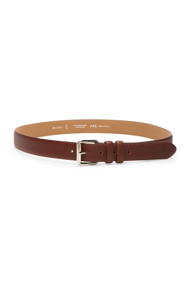 A.P.C. Paris Belt in Marron