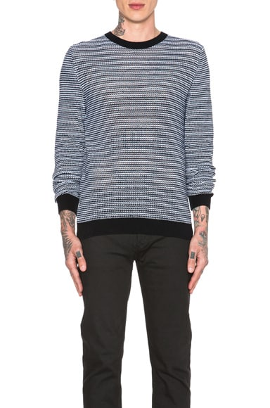 A.P.C. Milan Pullover Sweater in Blue