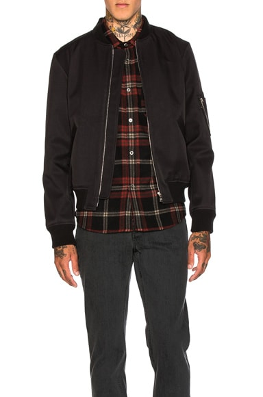 A.P.C. MA-1 Bomber Jacket in Black