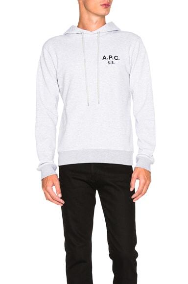 A.P.C. US Hoodie in Grey