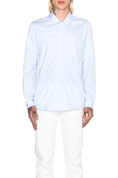 A.P.C. West Popover Shirt in Light Blue