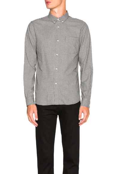 A.P.C. Mick Shirt in Faux Noir