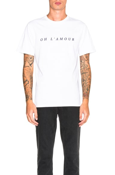 A.P.C. Oh L'Amour Tee in White