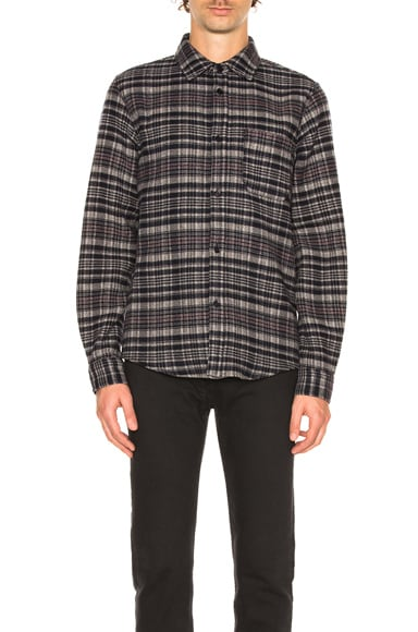 A.P.C. Trevor Shirt Jacket in Faux Noir
