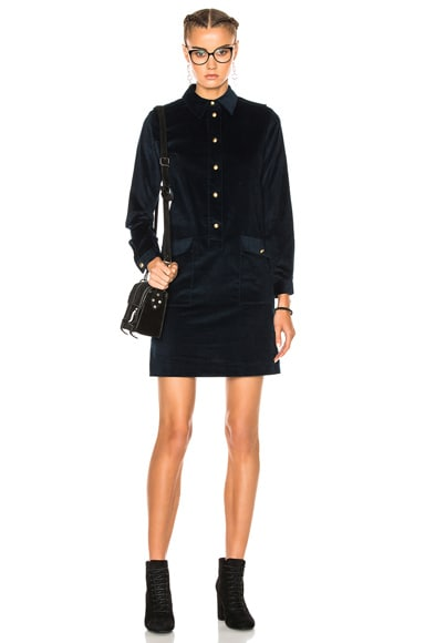 A.P.C. Agnes Dress in Dark Navy