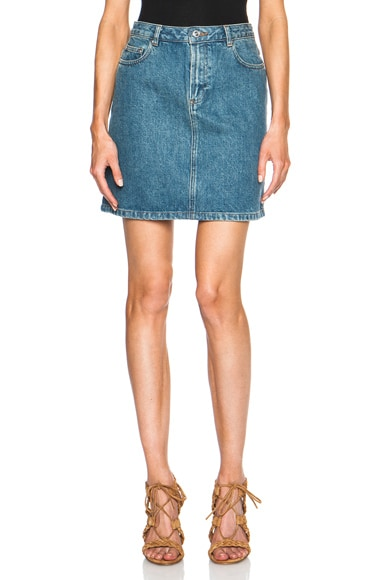 A.P.C. Standard Denim Skirt in Indigo Delave
