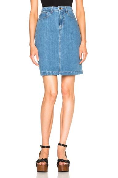 A.P.C. High Standard Skirt in Blue