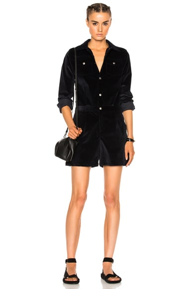 A.P.C. Anderson Romper in Dark Navy