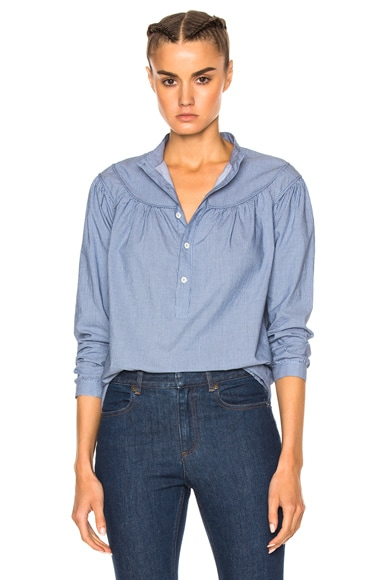 A.P.C. Sally Blouse in Blue Fonce