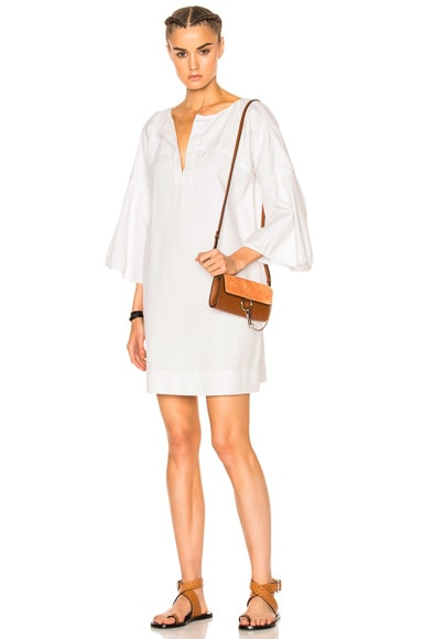 Apiece Apart Becerra Flute Arm Dress in White Denim