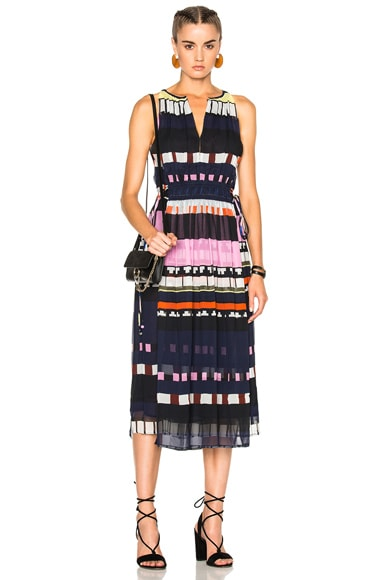 Apiece Apart Lippard Dress in Twilight Abstract Stripe