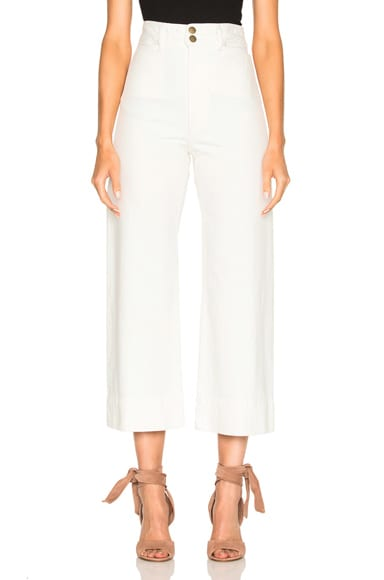 Apiece Apart Merida Pants in White Denim