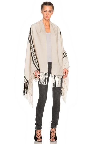 Apiece Apart Stripe Shawl in Ecru & Black Stripe