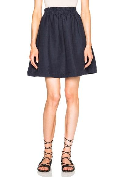 Apiece Apart Anasazi Short Skirt in Navy