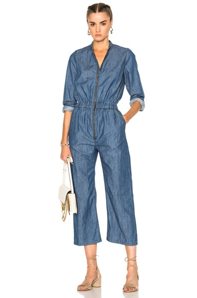 Apiece Apart Jardin Jumpsuit in Blue Wash