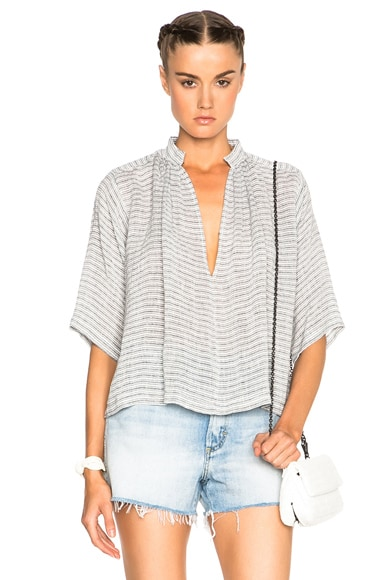 Apiece Apart Agata Top in Small French Stripe