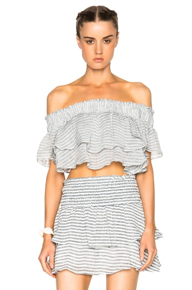 Apiece Apart Rosal Top in Small French Stripe