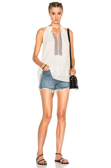 Embroidered Asientos Sweep Top