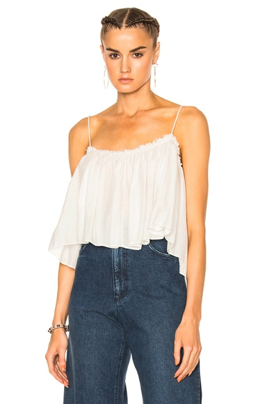 Apiece Apart Sanna Cropped Camisole Top in Cream